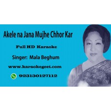 Akele na jana mujhe chhor kar yun Cover Audio karaoke