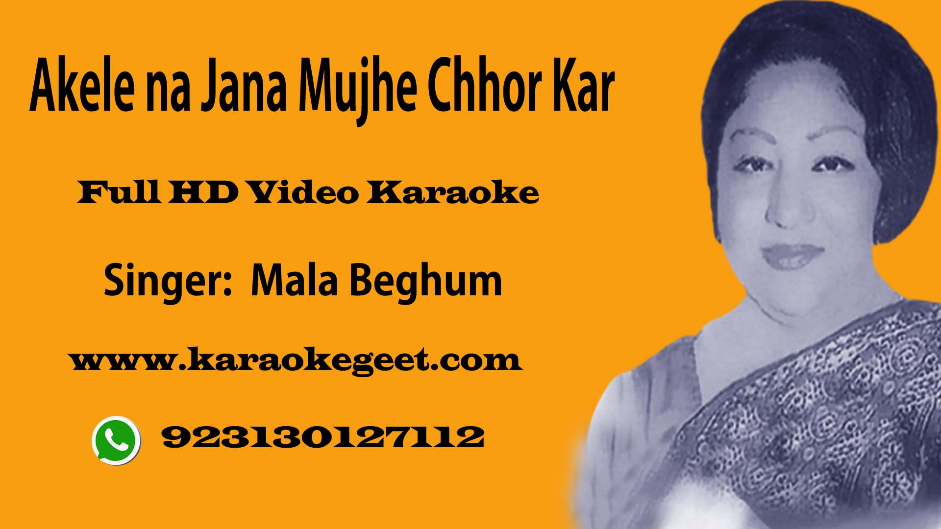 Akele na jana hamain chhor kar yun Cover Video Karaoke