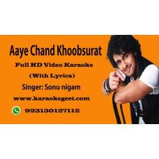 Aye Chand Khoobsurat Video Karaoke