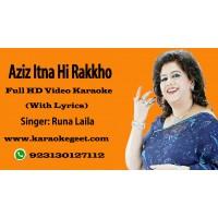 Aziz itna hi rakkho ke dil sanbhal jai Video Karaoke