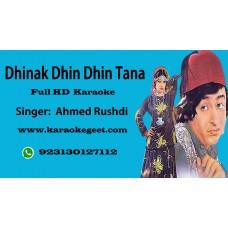 Dhinak dhin dhin tana Audio Karaoke