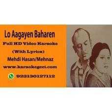 Lo aagayeen baharen aya sama suhana Video Karaoke