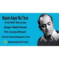 Naam aaye na tera pyar ki ruswai main Audio Karaoke