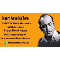 Naam aaye na tera pyar ki ruswai main Video Karaoke