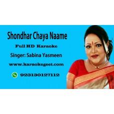 Shondhar chaya naame Audio Karaoke